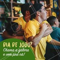 Hoje é dia de jogão! ⚽️ Dia de reunir os amigos e vir pra cá curtir muita comida e bebida boa! #jogo #ahazoutaste #futebol