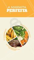 Que tal uma comidinha leve e bem equilibrada para hoje? Peça já a sua quentinha! 🍛 #marmitas #ahazoutaste #quentinha