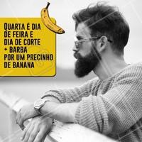 Quarta pode ser dia de feira, mas também é dia de dar um talento no visual por um precinho camarada! 😎 Agende um horário agora mesmo. #barbearia #barber #ahazou #barbeiro #promocao #quarta