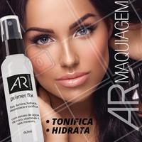 Experimente o Primer Fix, fixador de maquiagem multifuncional que tonifica, ilumina, desintoxica e hidrata sua pele. #AbelhaRainhaCosmeticos #AhazouAbelhaRainha #PrimerFix #Primer #make