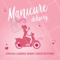 Nunca foi tão fácil ficar com as unhas impecáveis! 💅 Agende um horário agora mesmo! #manicure #unhas #ahazou #manicuredelivery #atendimentoemdomicilio