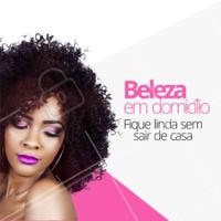 Você mais linda no conforto da sua casa! Marque um horário agora mesmo 👸 #cabelo #atendimentoemdomicilio #ahazou #convite