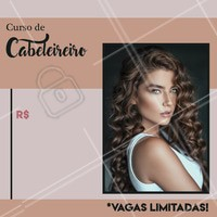 Quer se aperfeiçoar e conquistar sua renda própria? Inscreva-se em nosso curso mas, atenção: AS VAGAS SÃO LIMITADAS! #curso #cabelos #cursoprofissionalizante #profissao #hair #perfecthair #ahazou #braziliangal