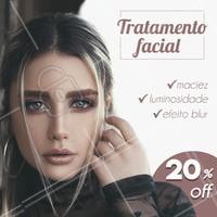 Com nossa promoção de 20 % off em qualquer procedimento estético facial, além de renovar a pele do rosto, você garante muito mais saúde para sua cútis. APROVEITE! #promo #promocao #sale #etsteica #esteticafacial #ahazou #braziliangal