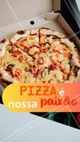 Pizza é o motivo pelo que fazemos o que fazemos com tanto amor. 🍕 A pizza também é sua paixão? 💕 #pizza #ahazoutaste #pizzaria