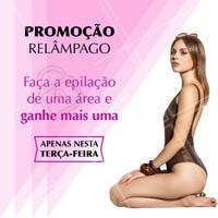 Eu ouvi promoção? 😱 Corre porque é apenas nesta terça, viu? 😉 #promocao #ahazou #epilacao #tercafeira