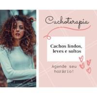 Vem cuidar dos cachos com que entende! Agende seu horário! 😘 #cacheada #ahazou #cachos