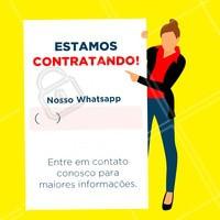 TEM VAGA! Entre em contato conosco para maiores informações   #contratacao #ahazou #temvagas #vaga