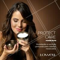 Hidratação Power com um cheirinho delicioso! Extremamente nutritiva, trata os cabelos ressecados e sem vida profundamente e oferece deposição e retenção de nutrientes essenciais para a saúde da fibra sem pesar! 💁😍 #Lowell #LowellOficial #LowellCosméticos #ProtectCarePowerNutri #ProtectCareLowell #AhazouLowell #NutriçãoCapilar #HidrataçãoCapilar #Nutrição #Hidratação #CabeloSaudável