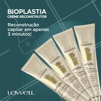 Não tem tempo para tratar o cabelo? Nada disso! O creme reconstrutor da linha Bioplastia promove recuperação imediata da fibra capilar em apenas 3 minutos. 😉 Dica: Deve ser utilizado pelo menos 1 vez por semana no lugar com condicionador.  #Bioplastia #BioplastiaLowell #AhazouLowell #ReconstruçãoCapilar #CremeReconstrutorBioplastia #3minutinhos  #Lowell #LowellCosméticos #LowellOficial