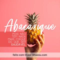 Você sabia que o abacaxi além de ser rico em vitaminas A, B e C contém uma enzima chamada bromelina que atua como antiinflamatório natural? Poisé! Faz super bem para o seu corpo, e consequentemente, para a pele. <3 #abacaxi #ahazou #gastronomia