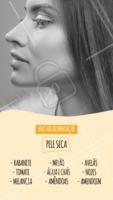 Quer ter uma pele linda? Invista na sua alimentação! A dica de hoje é para peles secas. 😉 #peleseca #estetica #ahazou #esteticafacial