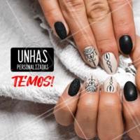 Somos especialistas em Unhas Personalizadas! Vem ficar mais linda com a gente. #unhaspersonalizadas #ahazou #manicure