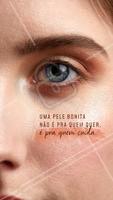 Todo cuidado é pouco pra manter uma pele linda! #cuidadoscomapele #ahazou #bandbeauty #estéticafacial #skincare #frase