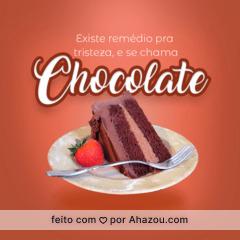 Não tem como ficar triste com chocolate! #ahazou #chocolate #bolo #sobremesa