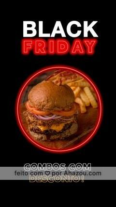 Black Friday chegou e nossos combos estarão com descontos mais que especiais! Chame seus amigos e venha aproveite nossa promoção! 🍔🥓🍟🥤 #hamburguer #lanche #blackfriday #ahazou