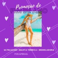 Aproveite a promoção especial de fim de ano para reduzir medidas! #promoção #fimdeano #ahazou #modeladora #ultrassom #mantatermica