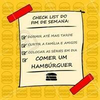 Fim de semana é hora de curtir, relaxar e claro: comer bem! Agora comentem aqui: quais são os planos de vocês para este fim de semana? #hamburguer #ahazoutaste #hamburgueria
