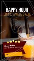 Happy Hour com chopp na promoção é aqui! Marque seus amigos e venha aproveitar 🍻 <3 #happyhour #ahazoutaste #beerlove