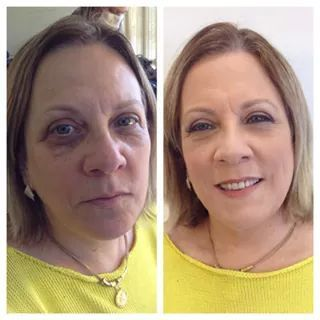 maquiagem, pele madura maquiador(a)