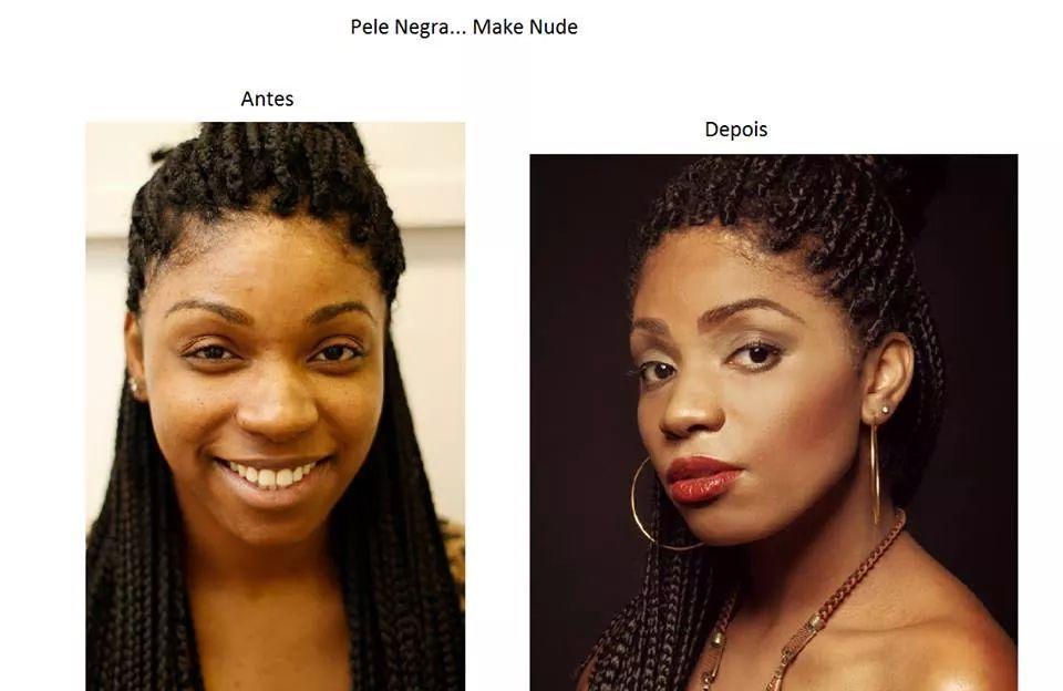maquiagem, pele negra maquiador(a)
