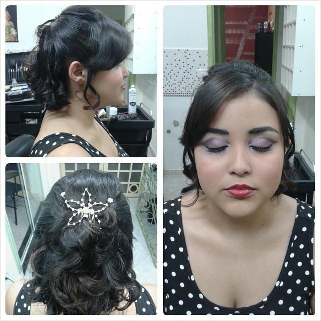 Penteado e Maquiagem no Instituto Beleza em Evidência penteado semi preso cabeleireiro(a) depilador(a) designer de sobrancelhas maquiador(a) esteticista