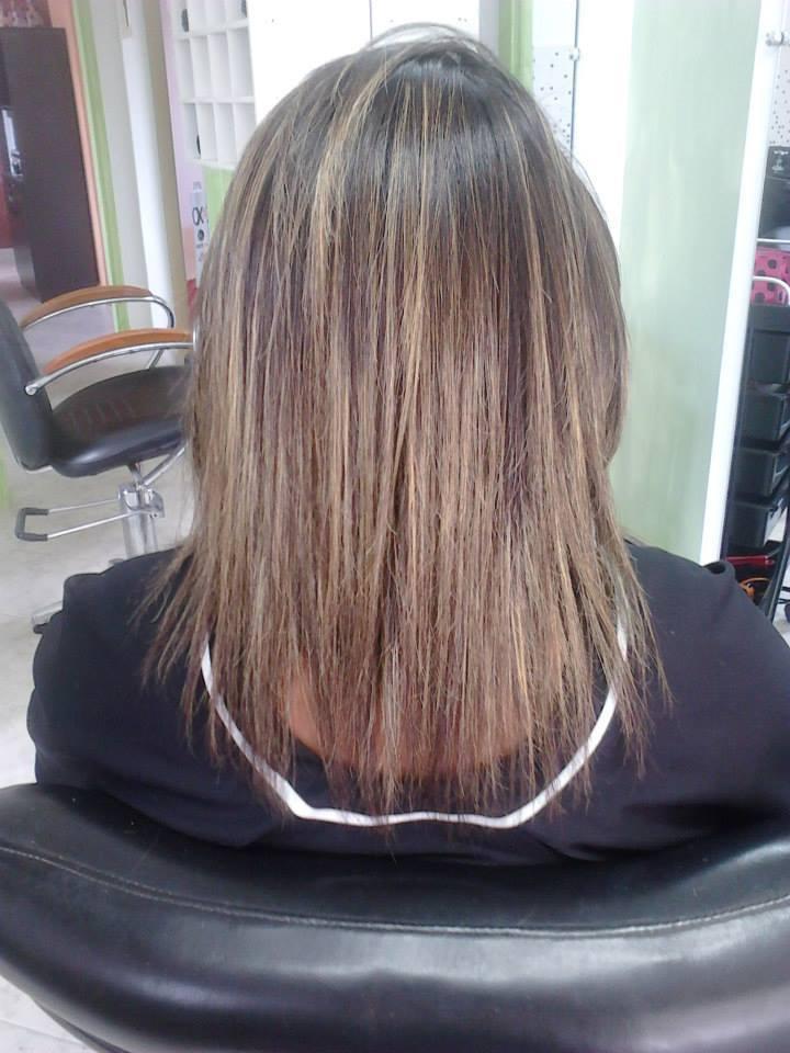 Progressiva AZ95 - DEPOIS loiro, luzes cabeleireiro(a) depilador(a) designer de sobrancelhas maquiador(a) esteticista