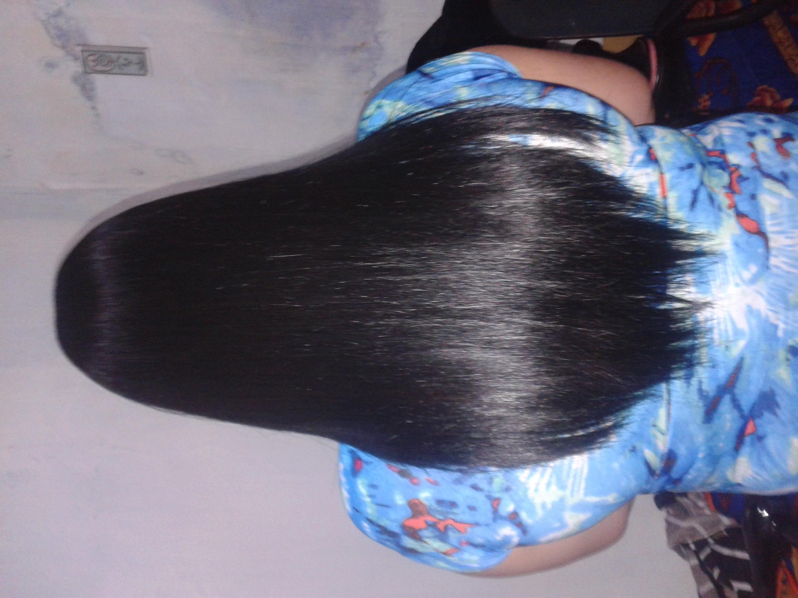 cabelo escovado e pranchado , (cabelo crespo)