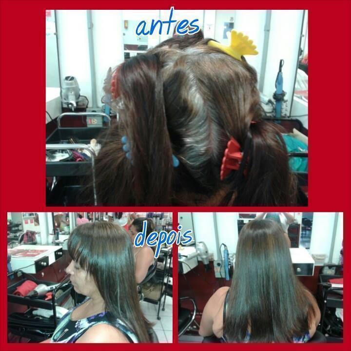 Retoque de raiz Retoque de raiz (cabelos 100% brancos, foi usado coloração 50% 8.0 50% 8.1 ox de 20 cabeleireiro(a)