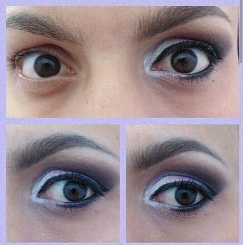 Maquiagem lilas e preto maquiador(a) recepcionista