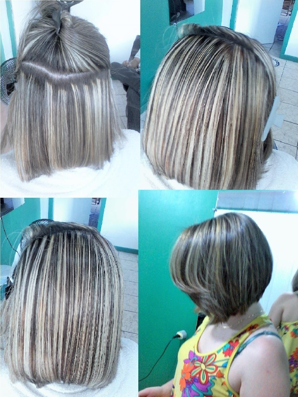 mudança, tem o antes luzes loiras cabelo  cabeleireiro(a)