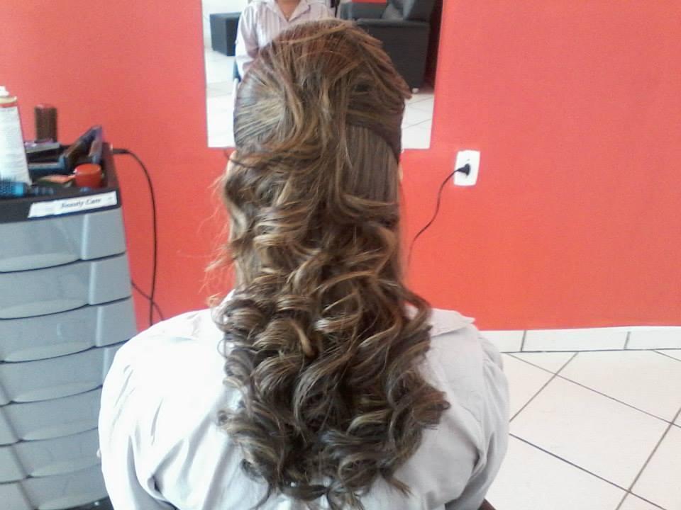 penteado penteado, semi preso, cachos cabeleireiro(a)