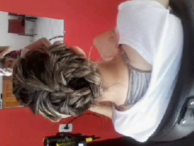 penteado trança penteado preso, coque cabeleireiro(a)