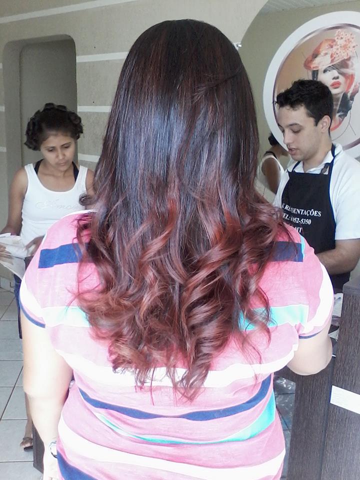 californianas vermelhas ombré hair, vermelho cabeleireiro(a)