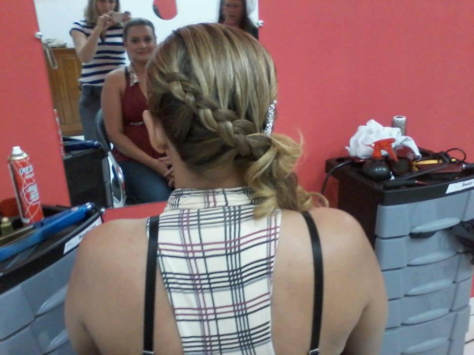 penteado trança 2 penteado preso, trança cabeleireiro(a)