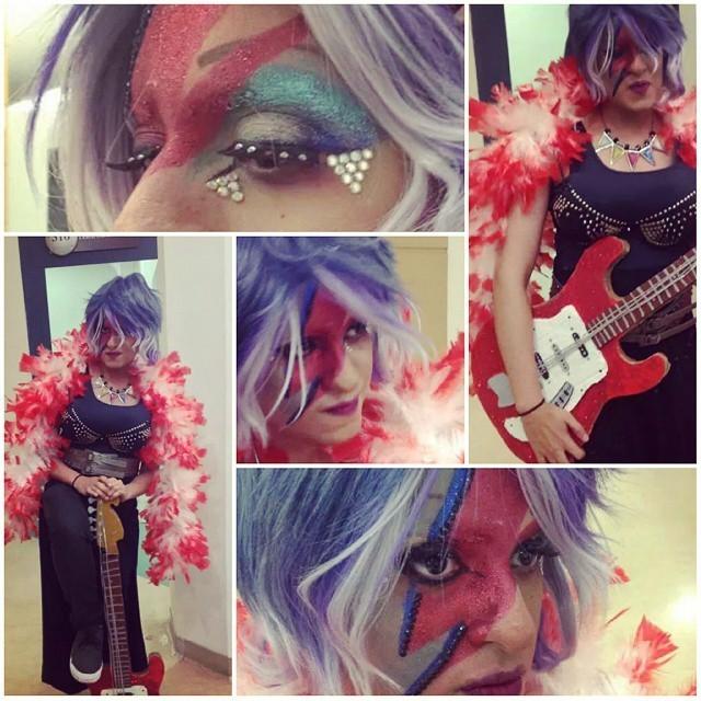 Drag Queen - David Bowie maquiagem artistica maquiador(a) assistente maquiador(a) auxiliar administrativo atendente estudante recepcionista caixa