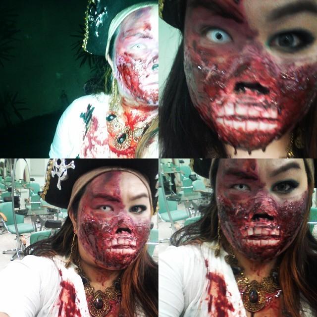 Pirata sanguinária. maquiagem artistica maquiador(a) assistente maquiador(a) auxiliar administrativo atendente estudante recepcionista caixa