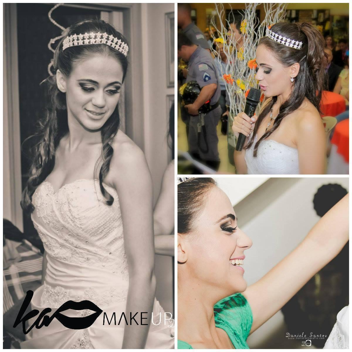 Noiva Aline penteado semi preso, maquiagem, noiva maquiador(a)