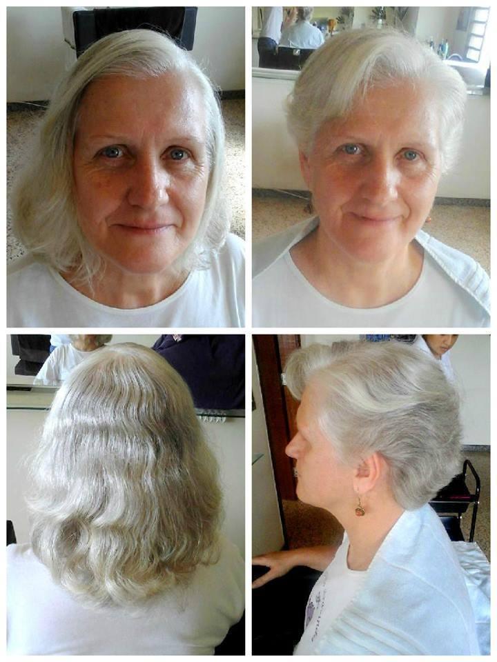 Corte cabelo curto, terceira idade cabelo auxiliar cabeleireiro(a)
