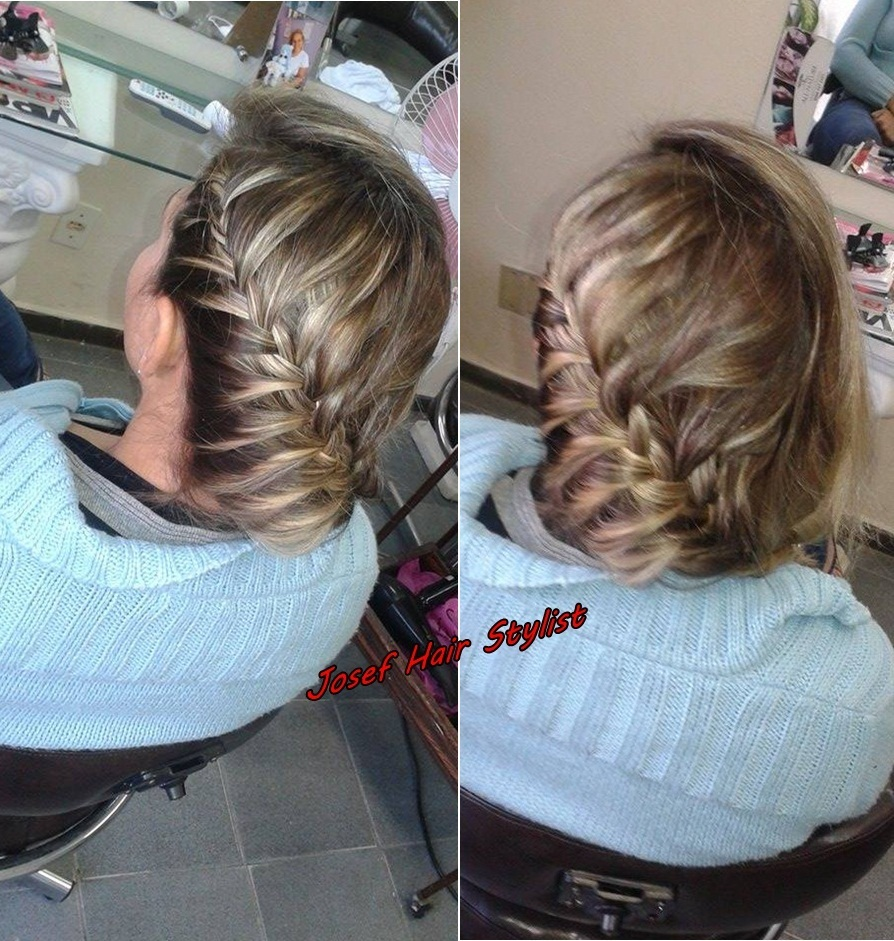 Trança Lateral ,praticando  penteado preso, trança auxiliar cabeleireiro(a)