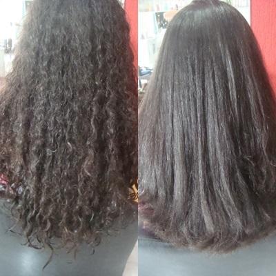 escova progressiva + corte alisamento cabeleireiro(a)