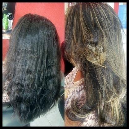 Luzes pérola + corte repicado cabeleireiro(a)