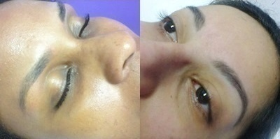 Visage para adequar a sobrancelha ao seu tipo de rosto. designer de sobrancelhas maquiador(a)