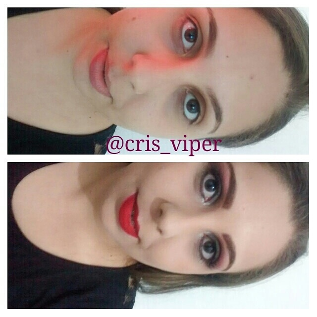 maquiagem, pele branca, batom vermelho maquiador(a)