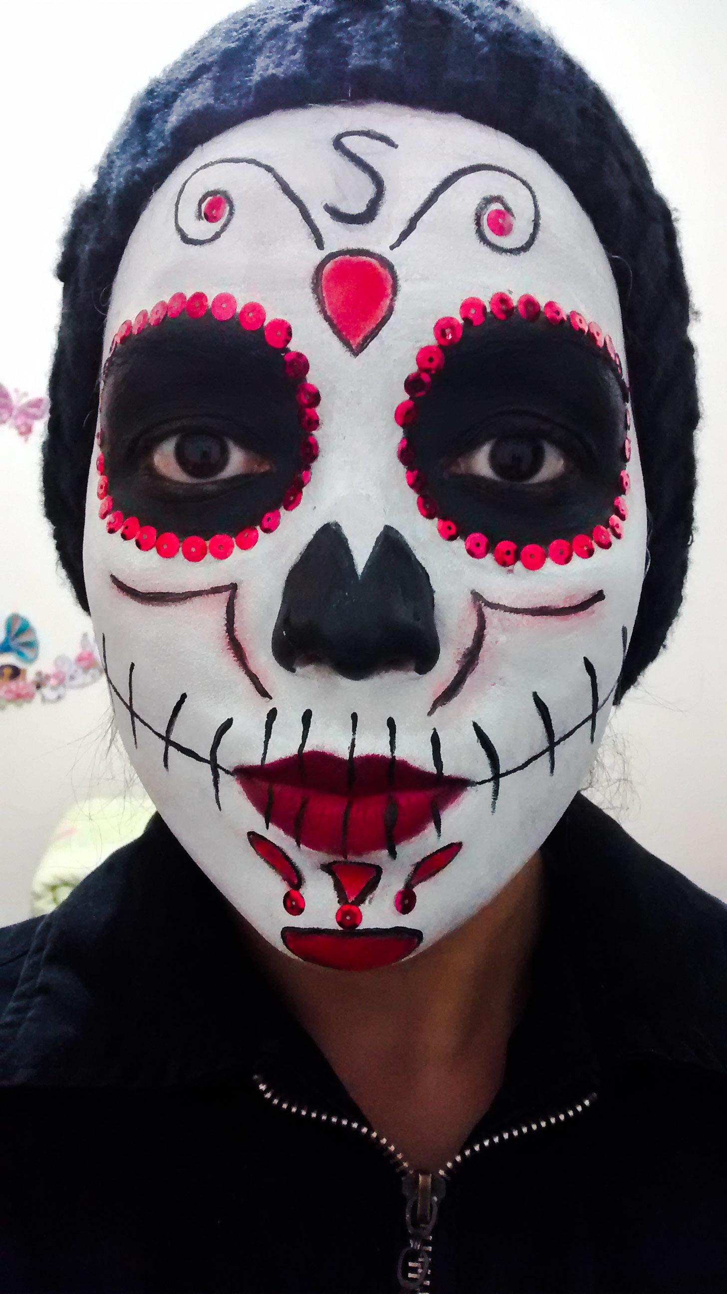 maquiagem artistica, caveira mexicana maquiador(a)