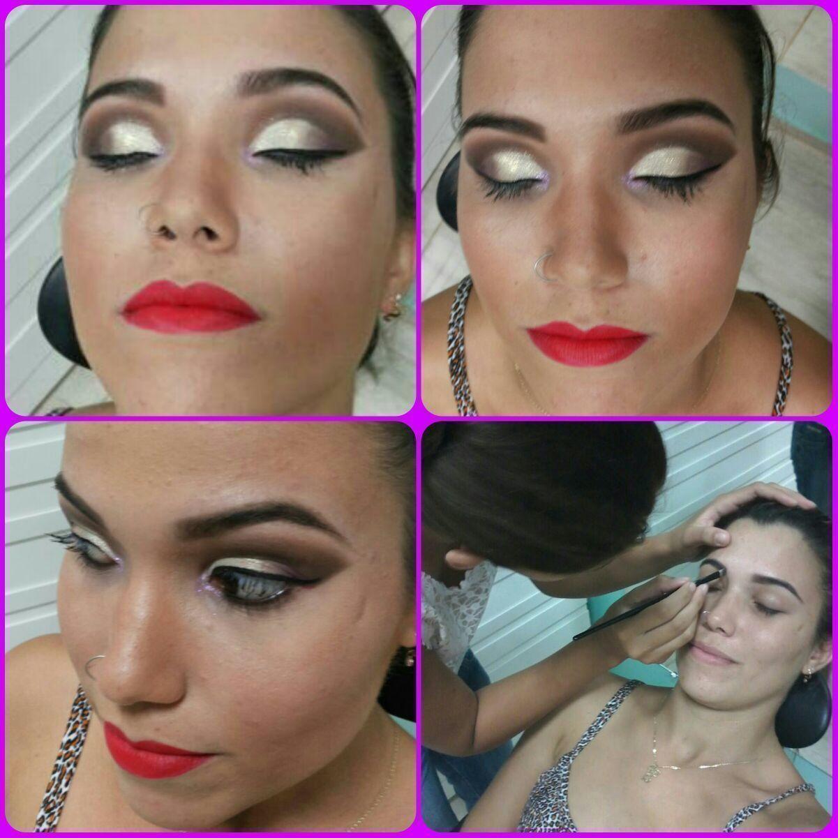 Curso... Esta maquiagem foi feita em um  dos meus cursos profissional! maquiagem, delineado, dourado maquiador(a)