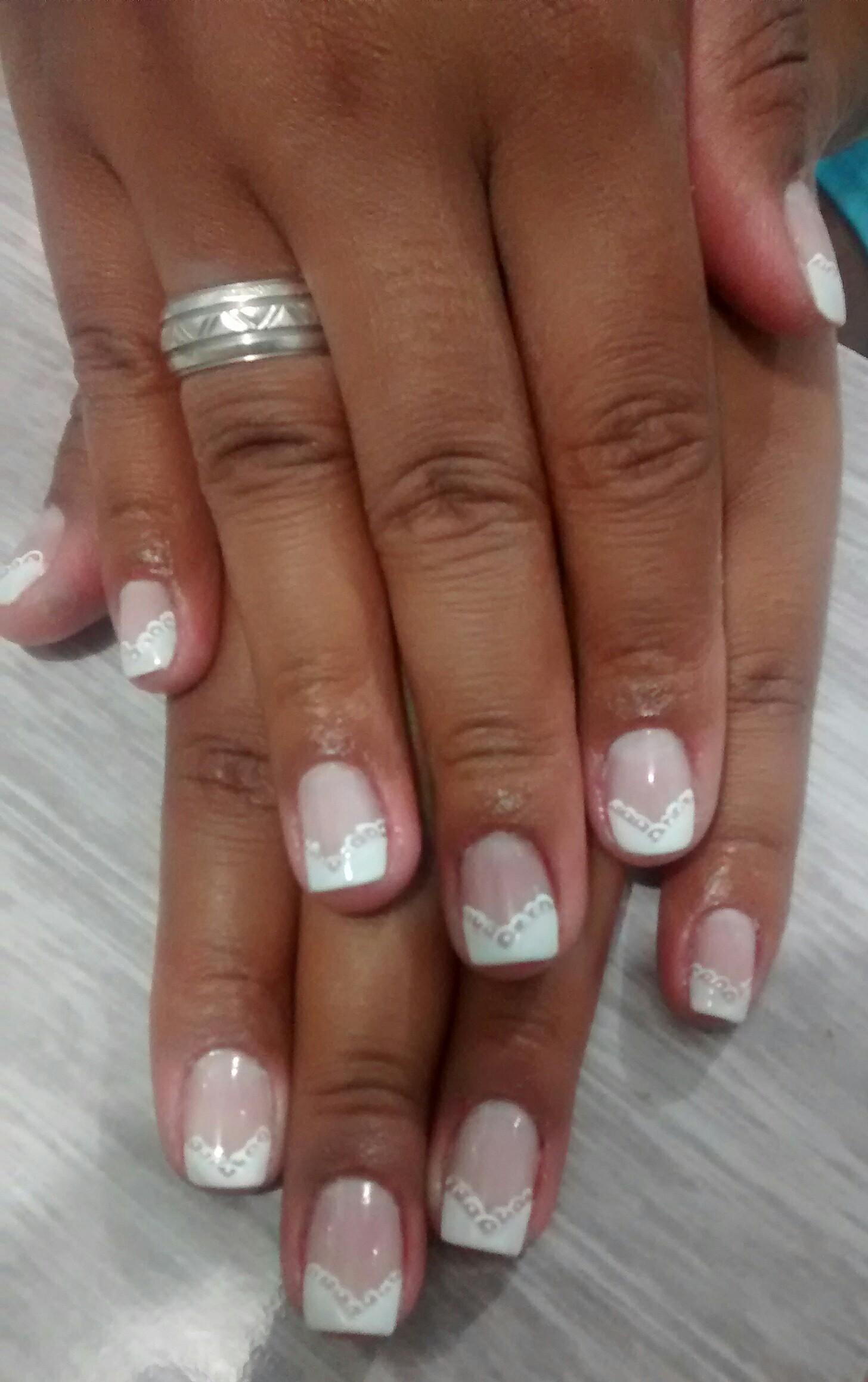 #UnhasDecoradas  #Francesinha Diagonal #Noiva#NailArt   #DecoradaaMão#Esmalte unhas  manicure e pedicure