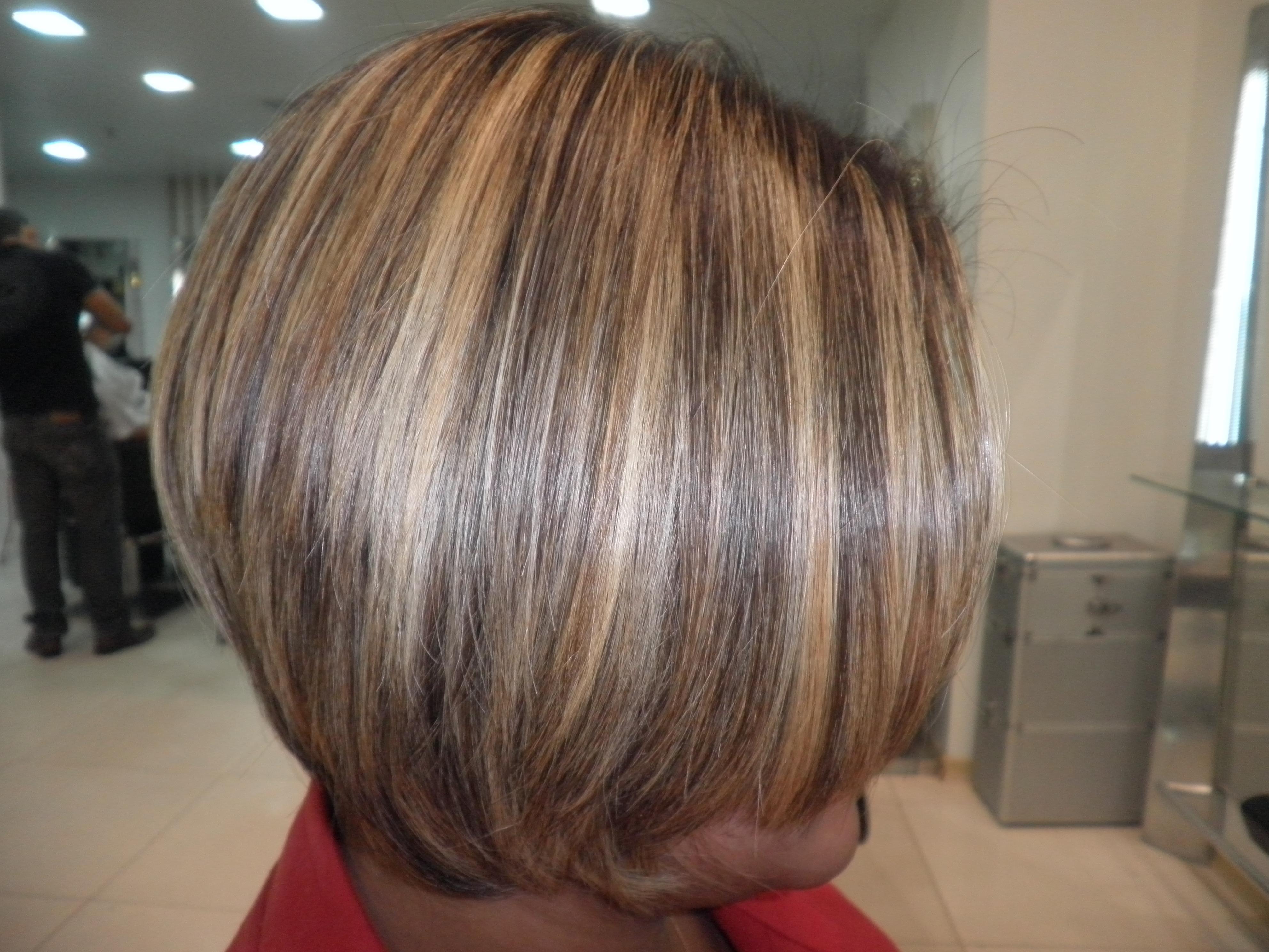 Mechas no cabelo curto cabelo  cabeleireiro(a)