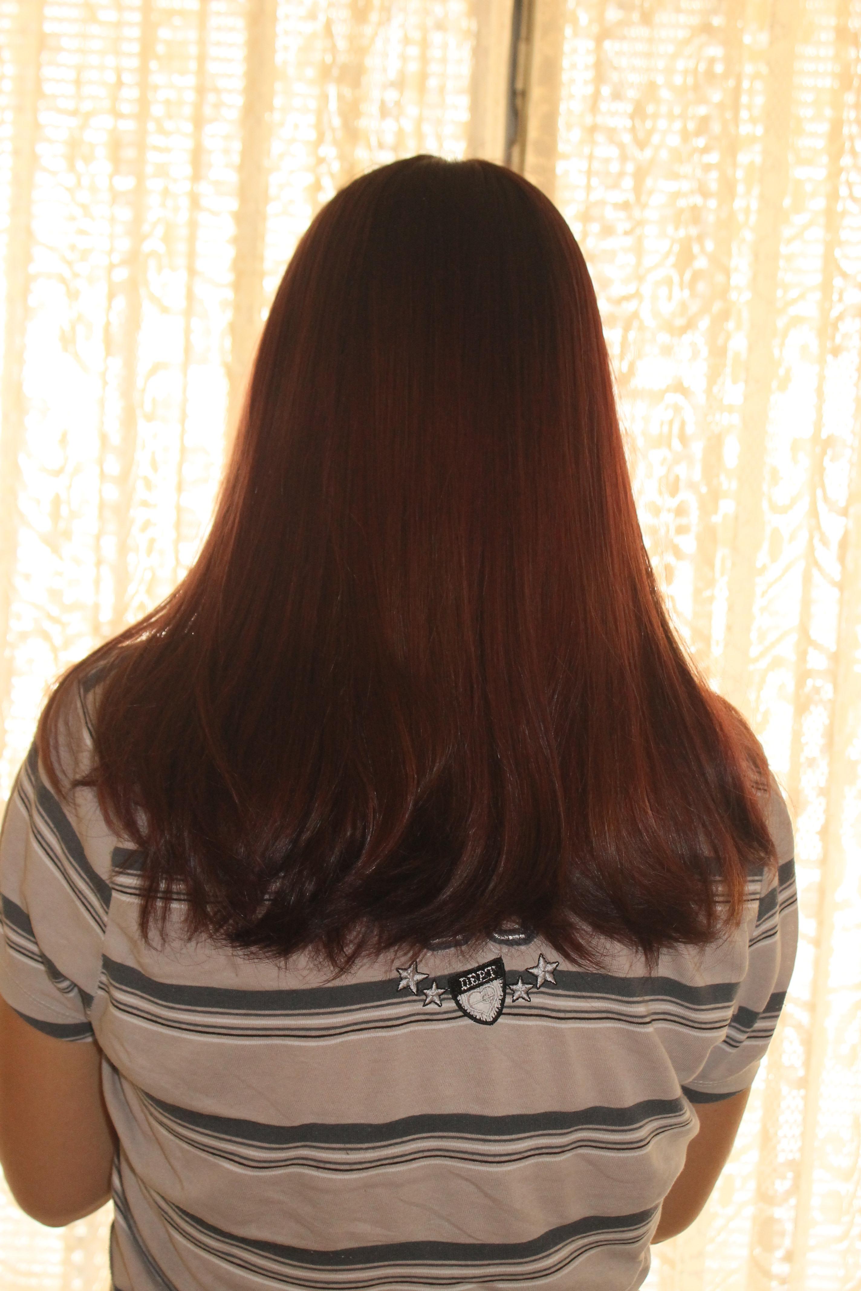 DE MECHA LOIRA PARA VERMELHO Cabelo castanho escuro com mechas loiras transformado em cabelo vermelho com nuancces mais claras cabeleireiro(a)