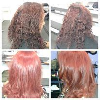 repigmentação foi feito uma repigmentação usando uma volumagem baixa com pó descolorante e por fim colocado um vermelhor 6.66 cabeleireiro(a)
